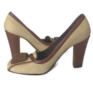 Enzo Angiolini Shoes - Enzo Angiolini Two Tone Brown High Heel Pumps 51/2